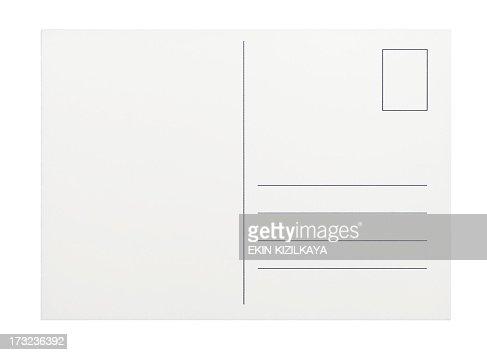 Empty postcard on white background
