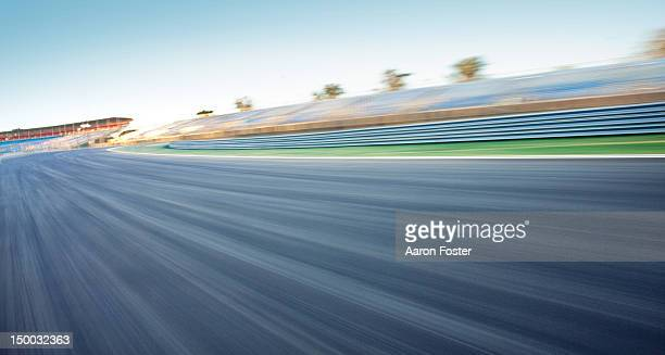 Empty race track background