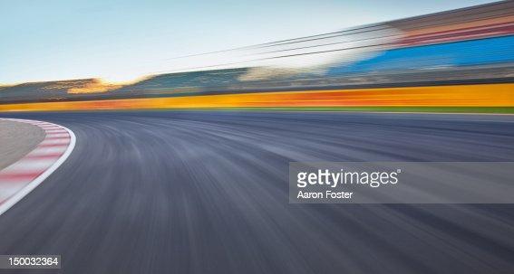 Empty race track background