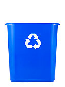 Empty Recycling Bin on a white background