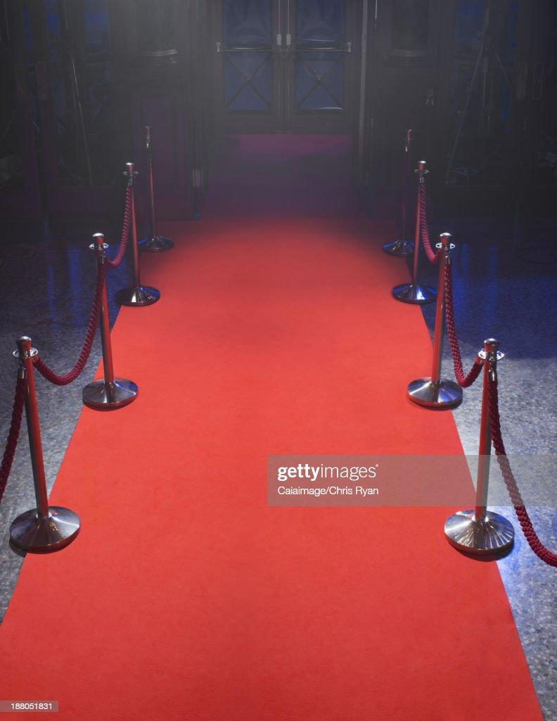 Empty red carpet