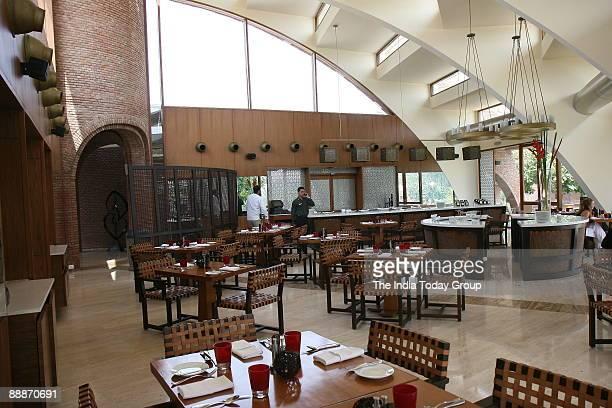 Empty restaurant at Westin SPA Sohna Gurgaon Haryana India