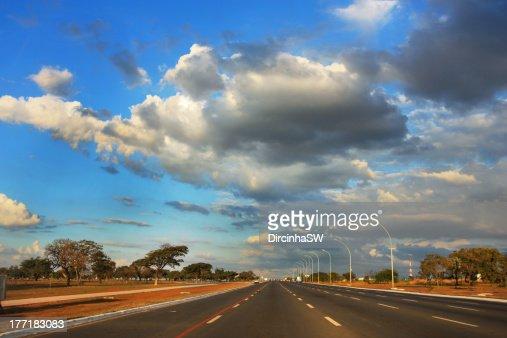 Empty road in Brazil