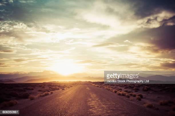 Empty road in remote desert