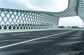 Modern city bridge pavement.