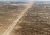 Empty road through the Namib Desert