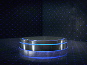 Empty room with light glow,abstract space.3D renderingEmpty room with light glow,abstract space.3D rendering