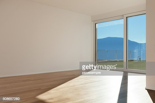empty room of a modern apartment : Stock Photo