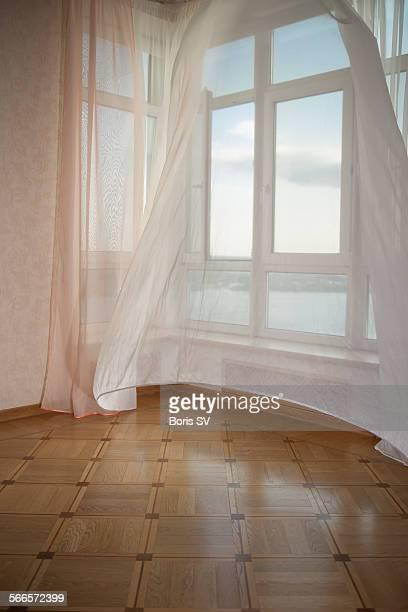Empty room with big windows