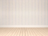 Empty room with pattern wallpaper