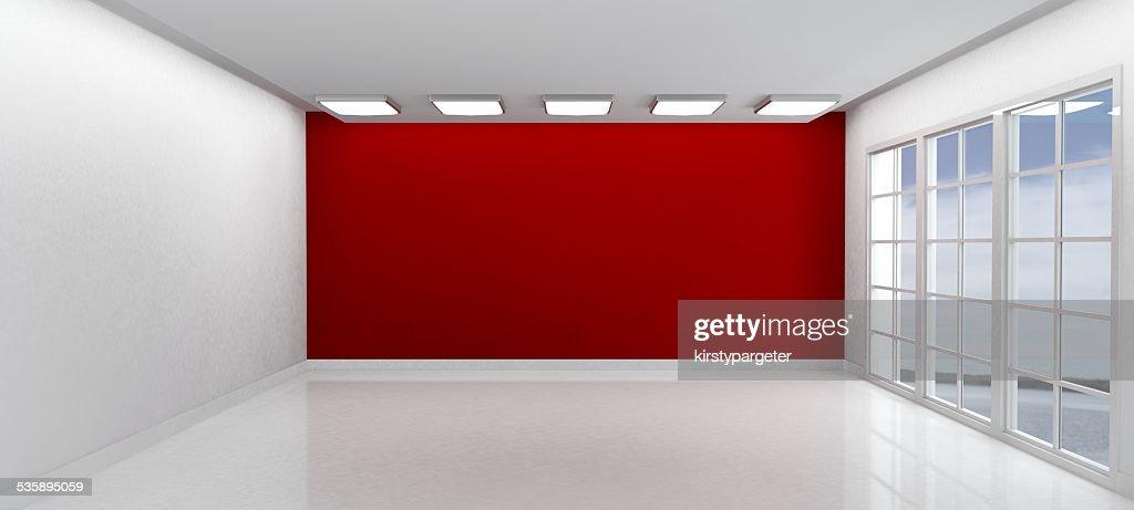 Sala vuota con Windows : Foto stock