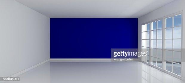 Empty Room with Windows : Stock Photo