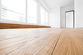 empty room with wooden floor in new apartment