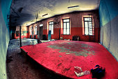 Empty Ruined Gym in Bad Condition Fisheye HDR