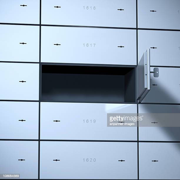 Empty Safe Deposit Box or Bank Vault