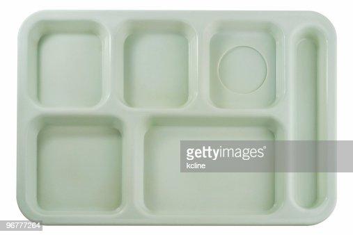 Empty School Lunch Tray