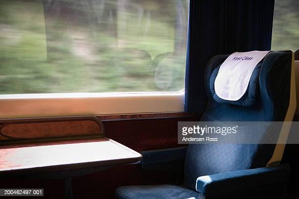 Empty seat on commuter train