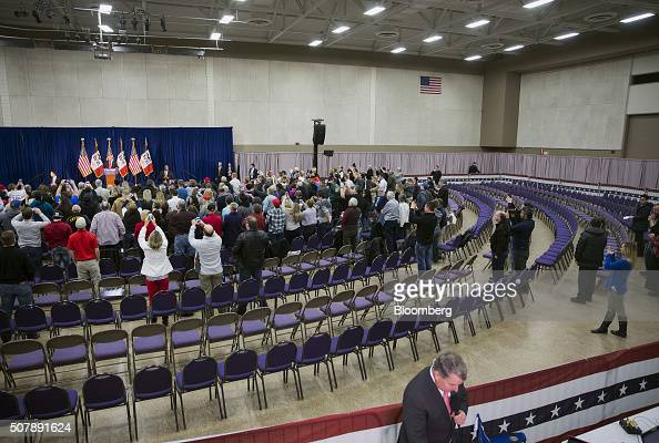 Empty seats are seen as Donald Trump president and chief executive of Trump Organization Inc and 2016 Republican presidential candidate speaks during...