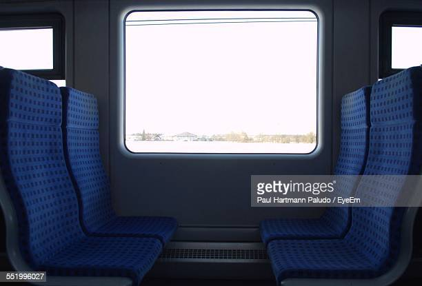Empty Seats By Window In Train