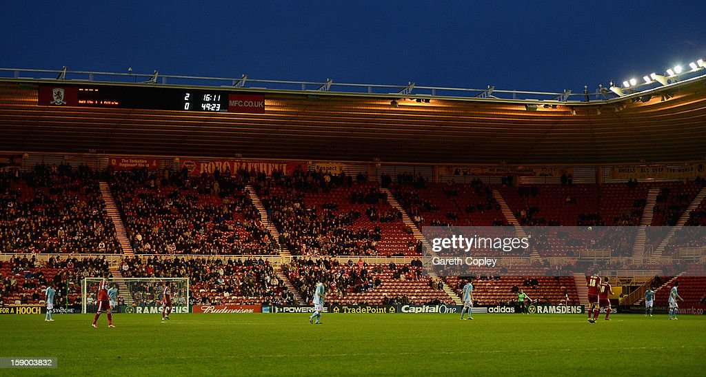 Empty seats during the FA Cup with Budweiser Third Round match between Middlesbrough and Hastings United at Riverside Stadium on January 5, 2013 in Middlesbrough, England.