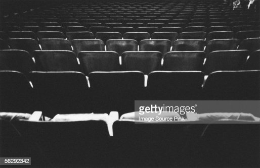 Empty seats in auditorium : Stock Photo