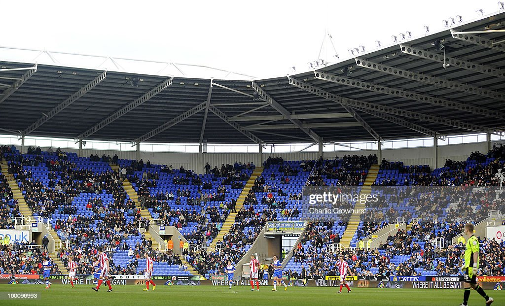 Empty seats in the the stadium during the FA Cup Fourth Round match between Reading and Sheffield United at the Madejski Stadium on January 26, 2013 in London England.