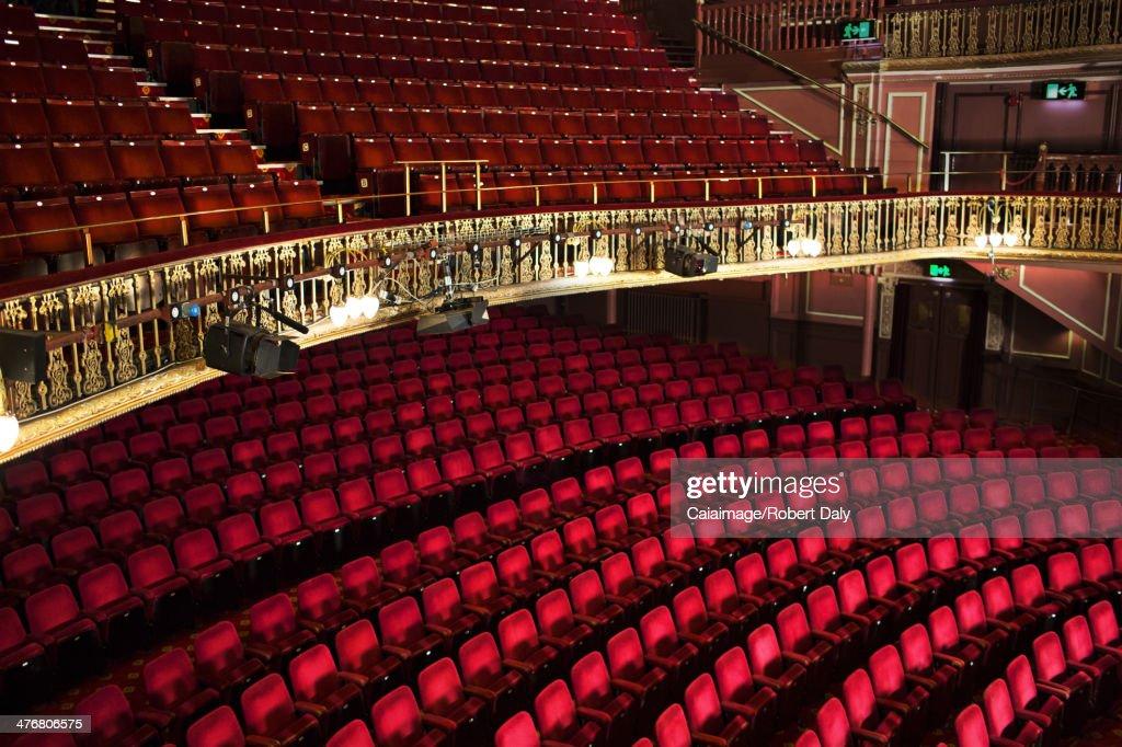 Empty seats in theater : Stock Photo