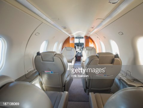 Empty Seats On Private Jet Stock Photo  Getty Images