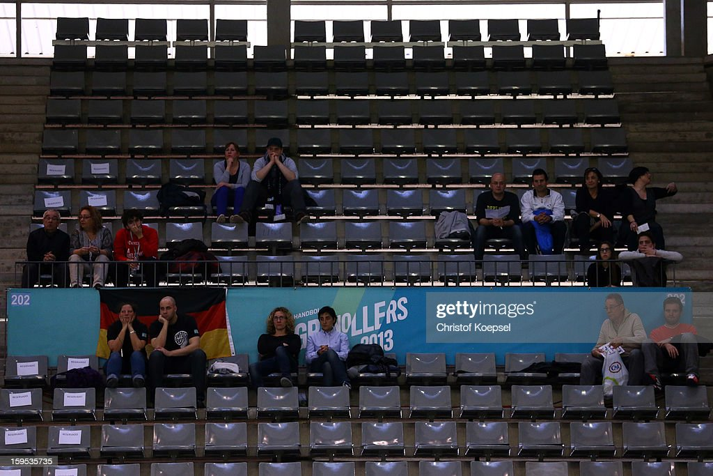 Empty seats prior to the premilary group A match between Germany and Argentina at Palacio de Deportes de Granollers on January 15, 2013 in Granollers, Spain.