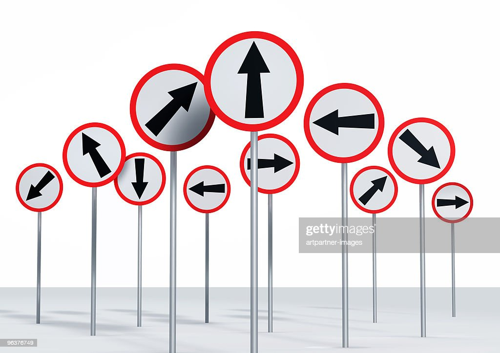 empty Signs on a Signpost : Stock Photo