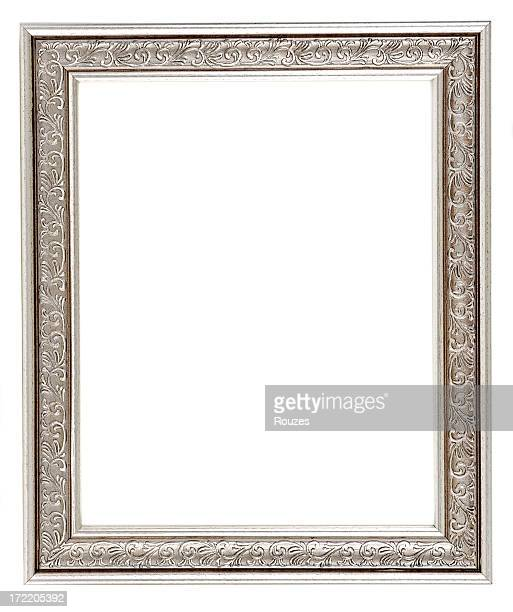 Empty silver antique picture frame