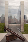 Empty Sky Memorial structure is seen during the structure's dedication at Liberty State Park on September 10 2011 in Jersey City New Jersey Empty Sky...