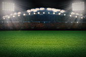3d rendered empty soccer field