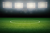 3d rendered empty soccer field