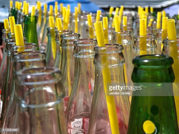 Empty soda bottles