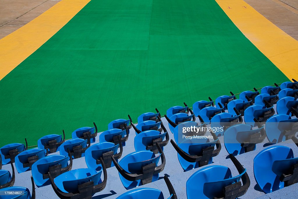 Empty sports stadium seats