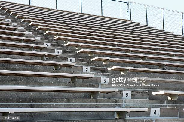 Empty stadium bleachers