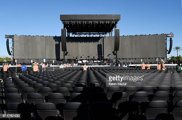 Empty stadium is seen prior to the start of the concerts during Desert Trip weekend 2 at The Empire Polo Club on October 14 2016 in Indio California