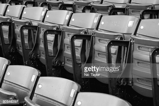 Empty Stadium Seating B/W : Stock Photo