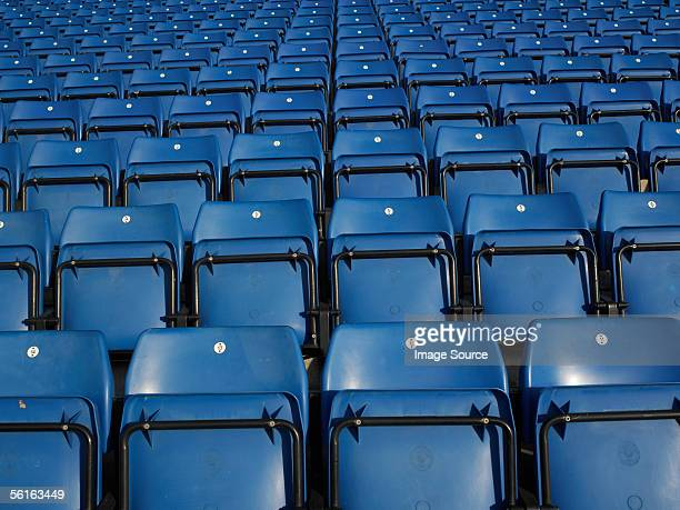 Empty stadium seating