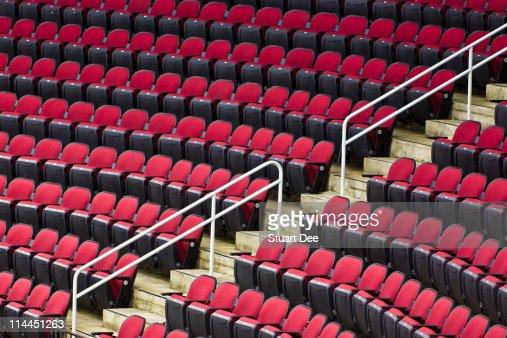 Empty stadium seats, USA : Stock Photo