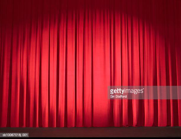 Empty stage with curtains closed