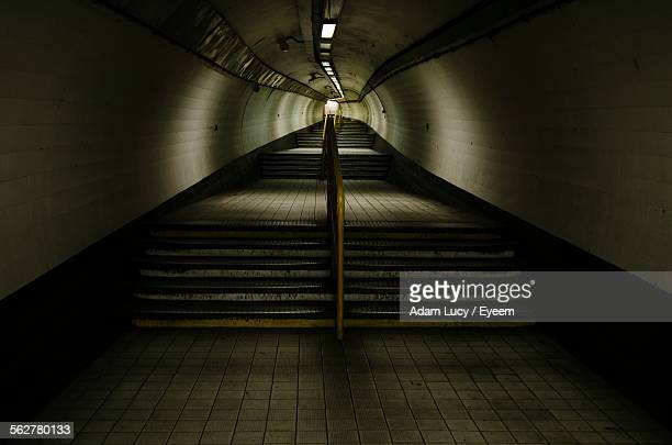 Empty Staircase At Subway Station