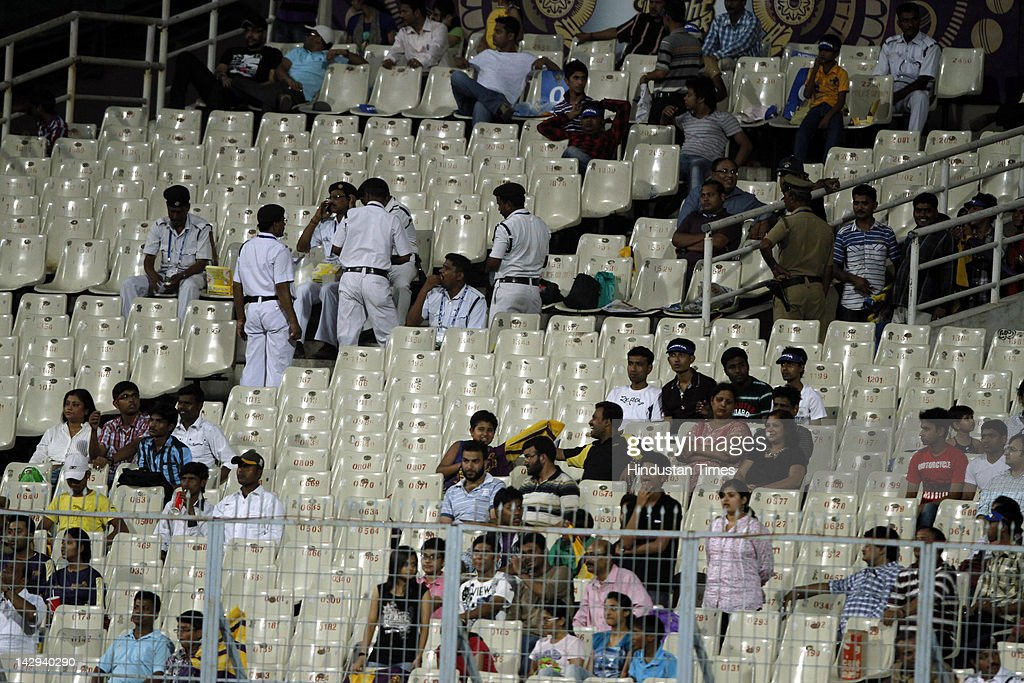 Empty stands at Eden Gardens during the IPL 5 cricket match played between Kings XI Punjab and Kolkata Knight Riders on April 15, 2012 in Kolkata, India. In a nail bitting contest Kings XI Punjab managed to win by 2 runs.