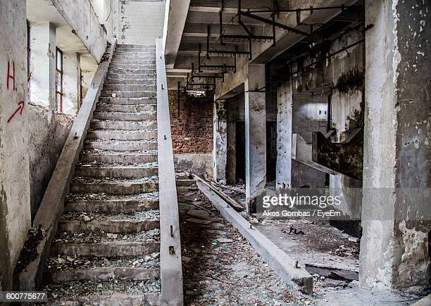Empty Steps In Abandoned Building