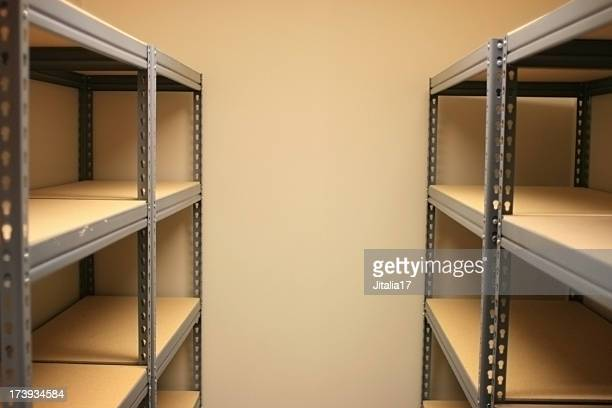 Empty Storage Space with Shelves