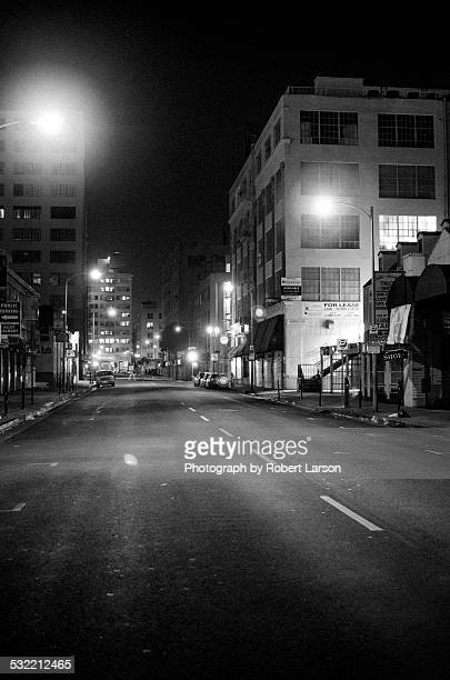 Empty Street in Downtown Los Angeles