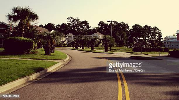Empty Street In Residential Area