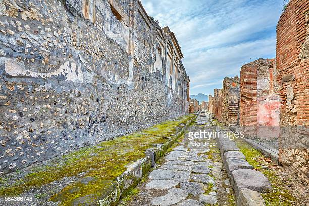 Empty Street ruins of the ancient city of Pompeii