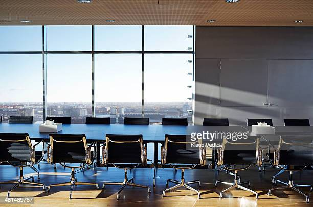 Empty stylish conference room